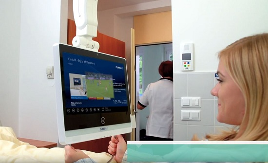 Our Infotainment system free of charge during the epidemic for patients at Clinic Golnik